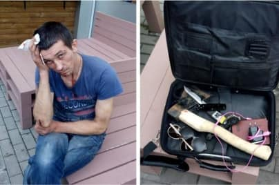 In Kiev, detained a dangerous criminal with weapons in a diplomat